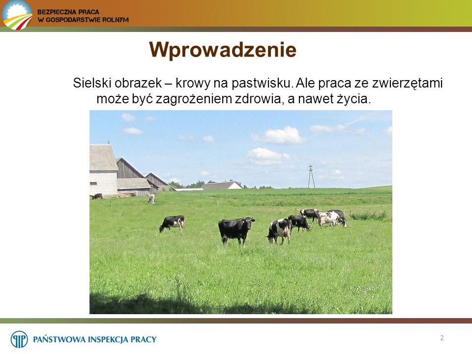 3 Obsługa zwierząt w wielu gospodarstwach zajmuje większość czasu pracy rolnika.