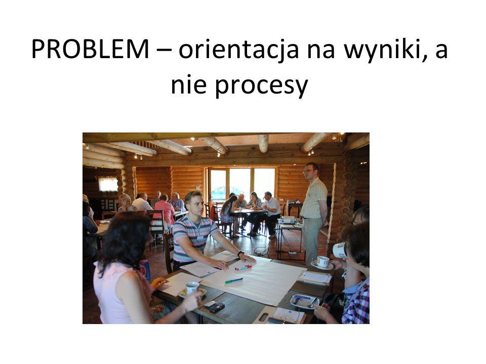 PROBLEM – orientacja na wyniki, a nie procesy