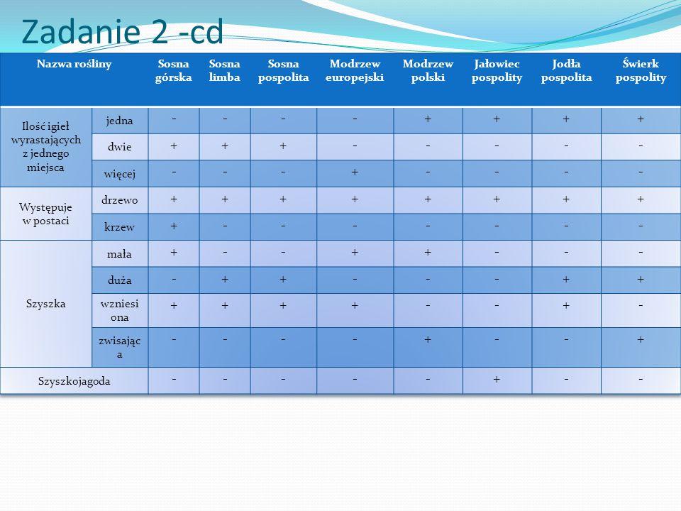 Zadanie 2 -cd