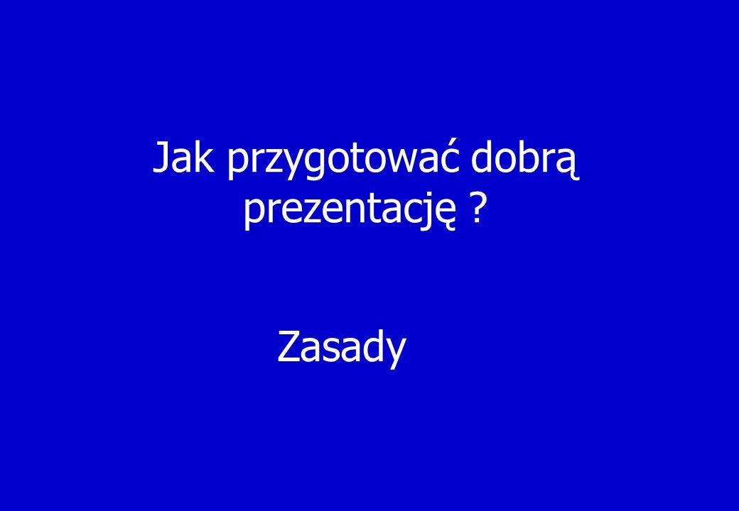 Zamiana kolorów Przygotowanie prezentacji do drukowania Byłoby dosyć ciężko wydrukować białe litery na niebieskim tle Anim