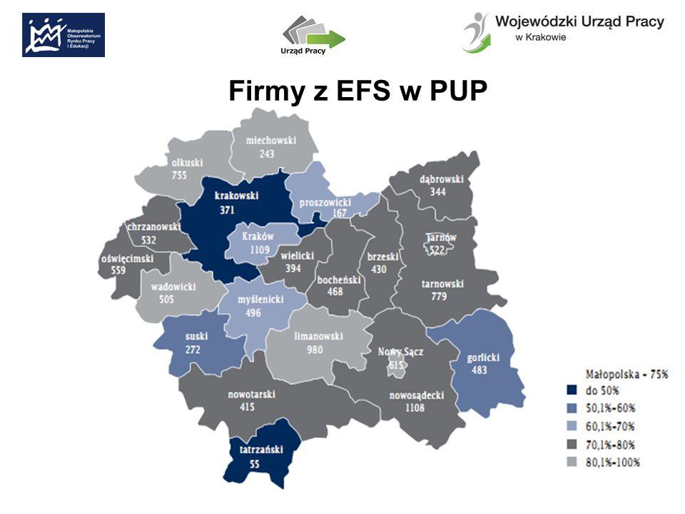 Firmy z EFS w PUP