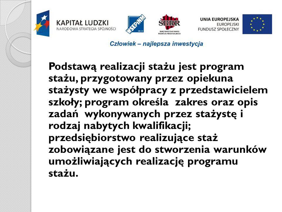 … staże w liczbach: liczba staży w I edycji projektu - 85 liczba dziewcząt - 61 liczba chłopców - 24 liczba przedsiębiorstw - 28 przedsiębiorstwa przyjmujące najwięcej stażystów – Wodociągi Kieleckie – 12 – ZPUE S.A.