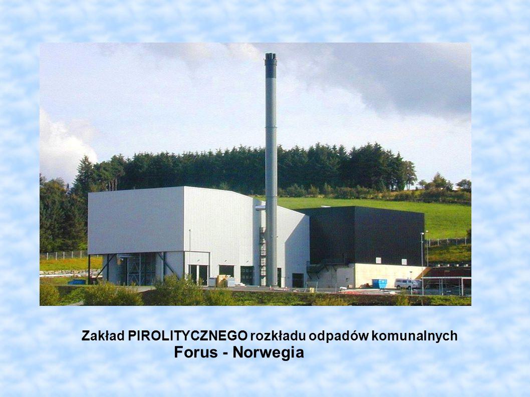 Zakład PIROLITYCZNEGO rozkładu odpadów komunalnych Forus - Norwegia