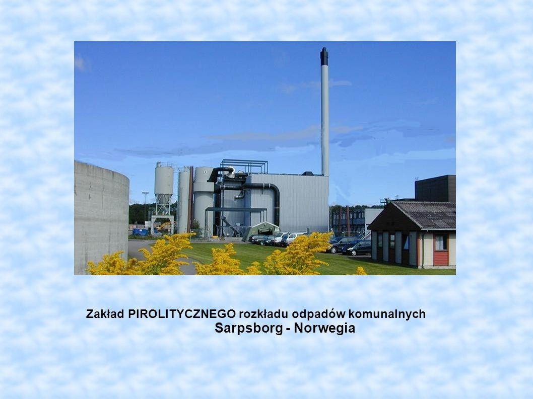 Zakład PIROLITYCZNEGO rozkładu odpadów komunalnych Sarpsborg - Norwegia