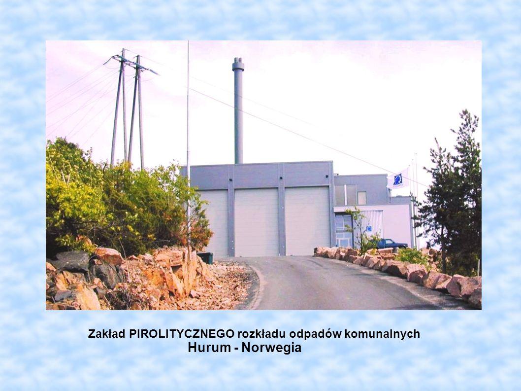 Zakład PIROLITYCZNEGO rozkładu odpadów komunalnych Hurum - Norwegia