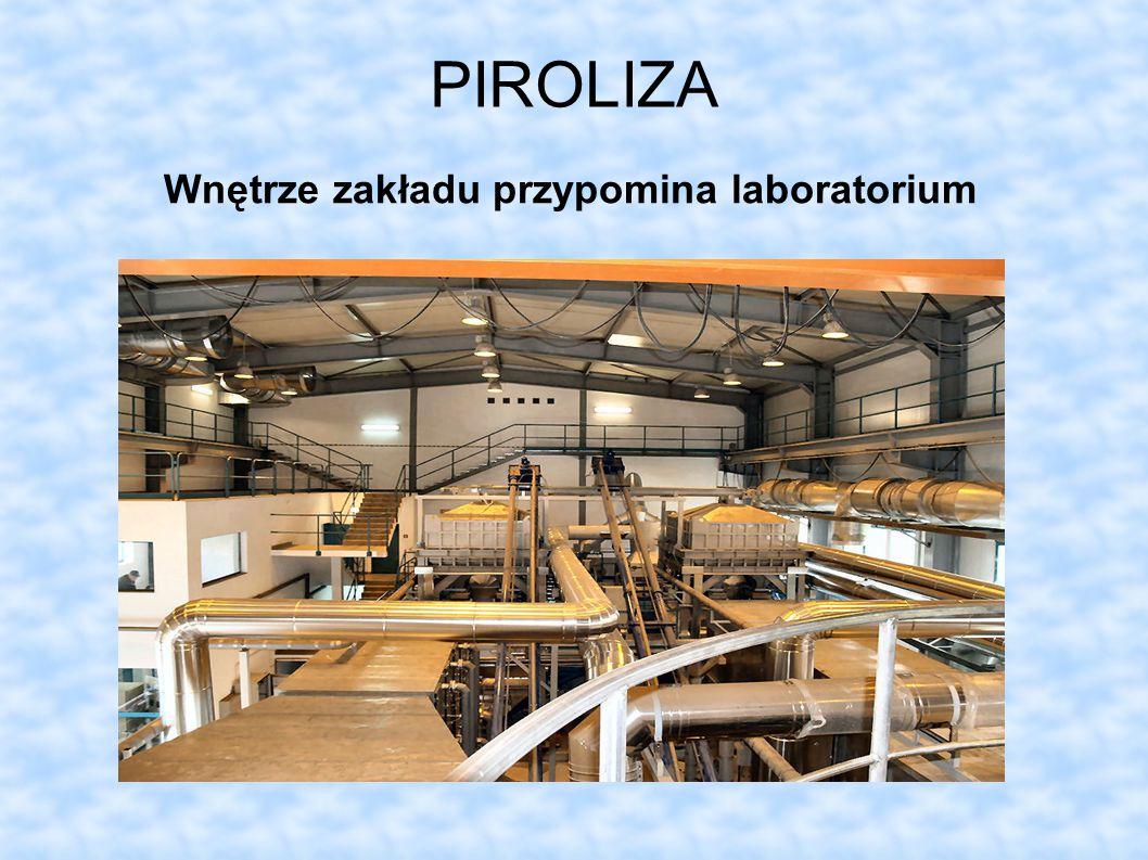 PIROLIZA Wnętrze zakładu przypomina laboratorium