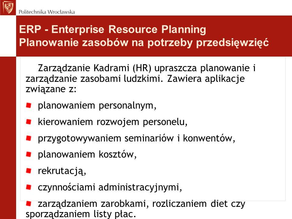 Zarządzanie Kadrami (HR) upraszcza planowanie i zarządzanie zasobami ludzkimi. Zawiera aplikacje związane z: planowaniem personalnym, kierowaniem rozw