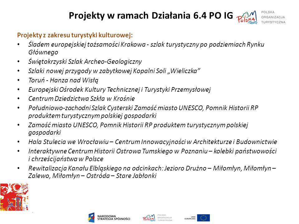 Projekty w ramach Działania 6.4 PO IG Projekty z zakresu turystyki kulturowej: Śladem europejskiej tożsamości Krakowa - szlak turystyczny po podziemia