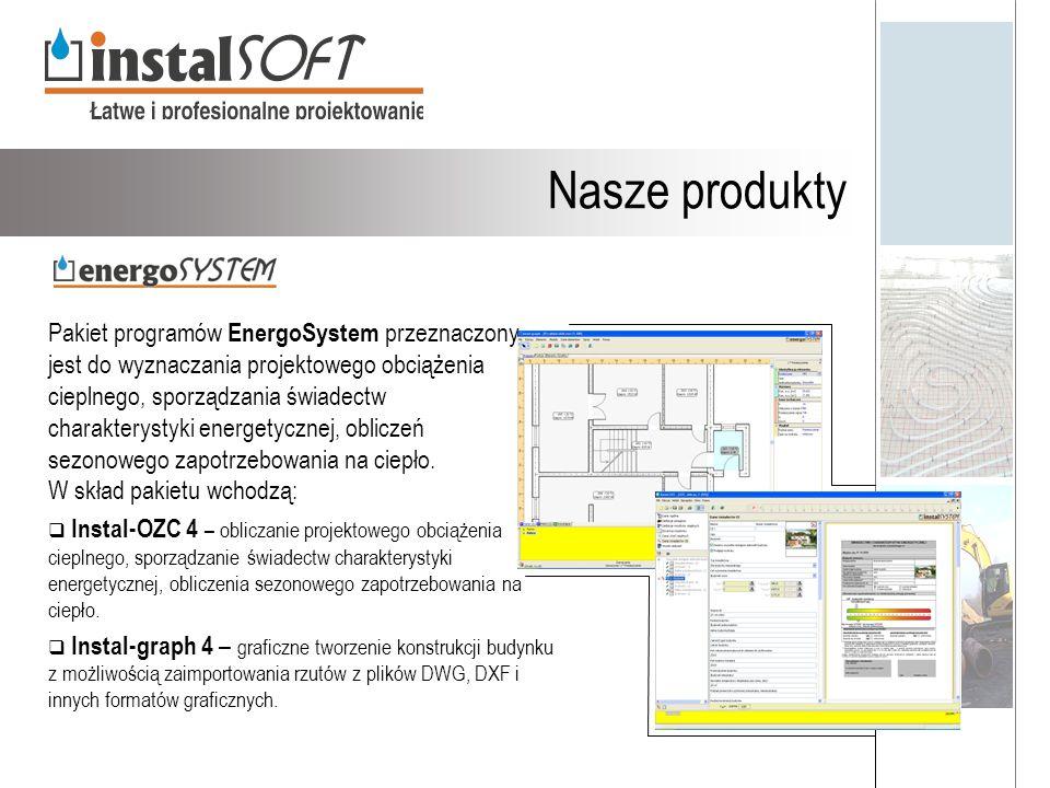 Nasze produkty Pakiet programów EnergoSystem przeznaczony jest do wyznaczania projektowego obciążenia cieplnego, sporządzania świadectw charakterystyk