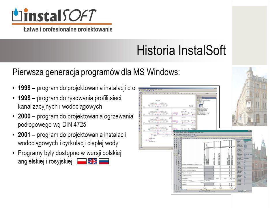 1998 – program do projektowania instalacji c.o. 1998 – program do rysowania profili sieci kanalizacyjnych i wodociągowych 2000 – program do projektowa
