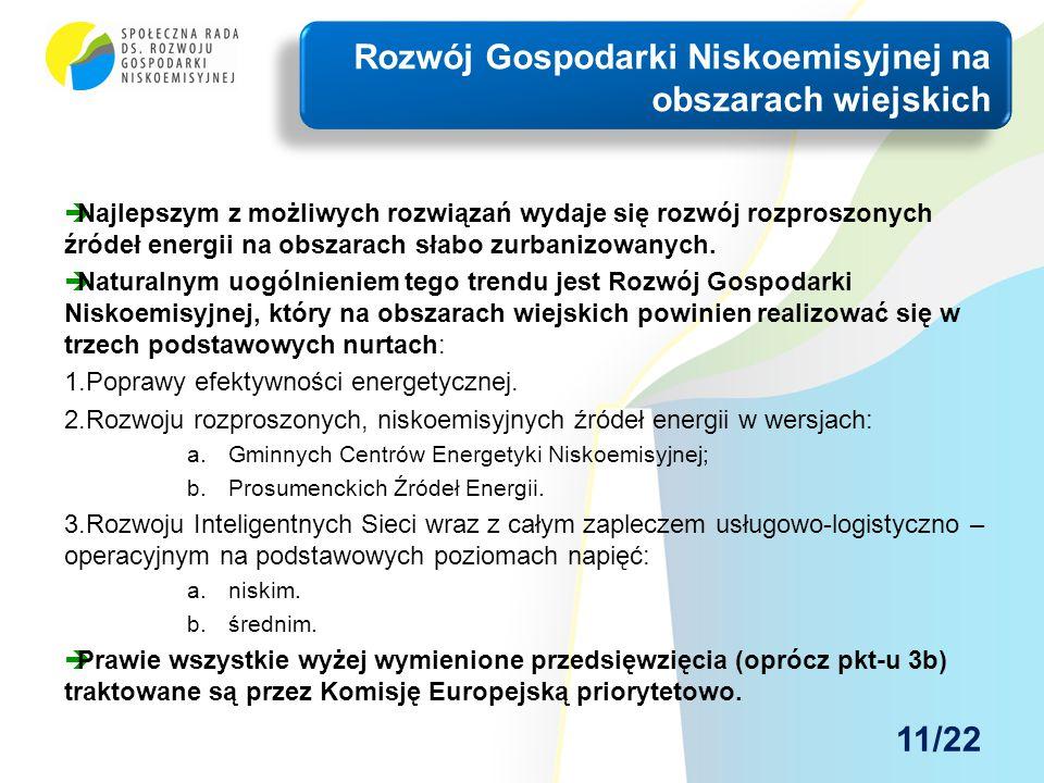  Najlepszym z możliwych rozwiązań wydaje się rozwój rozproszonych źródeł energii na obszarach słabo zurbanizowanych.  Naturalnym uogólnieniem tego t