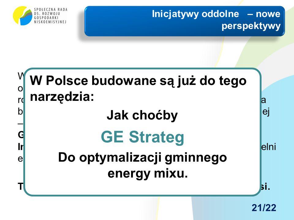 W polskiej sytuacji – głębokiej zapaści energetycznej obszarów wiejskich i słabo zurbanizowanych – ogromną rolę może spełnić oddolna lokalna inicjatyw