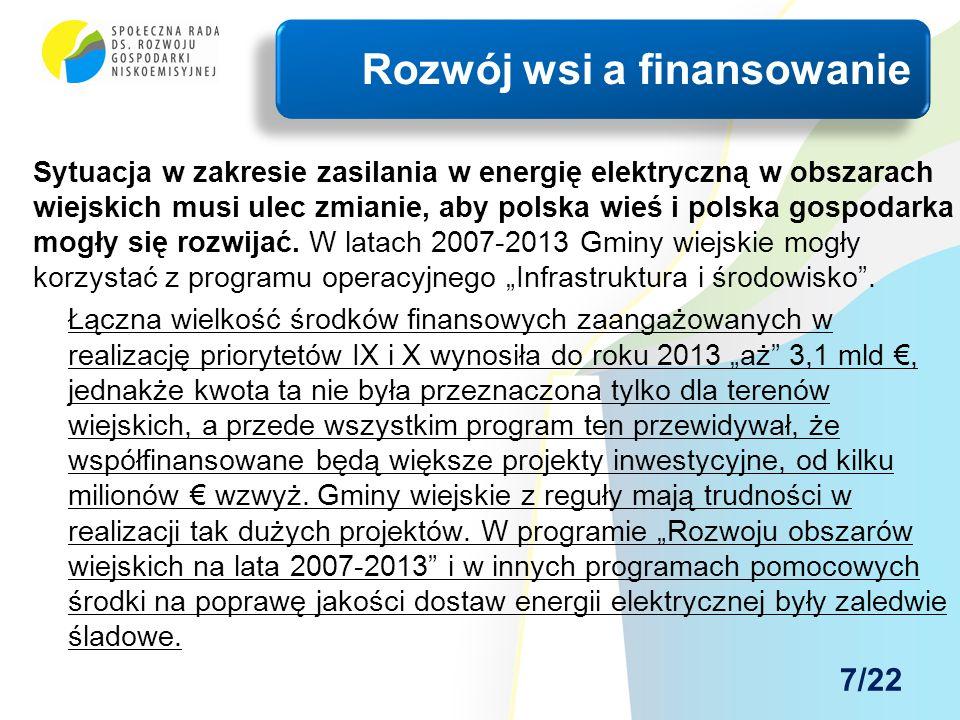 Sytuacja w zakresie zasilania w energię elektryczną w obszarach wiejskich musi ulec zmianie, aby polska wieś i polska gospodarka mogły się rozwijać. W