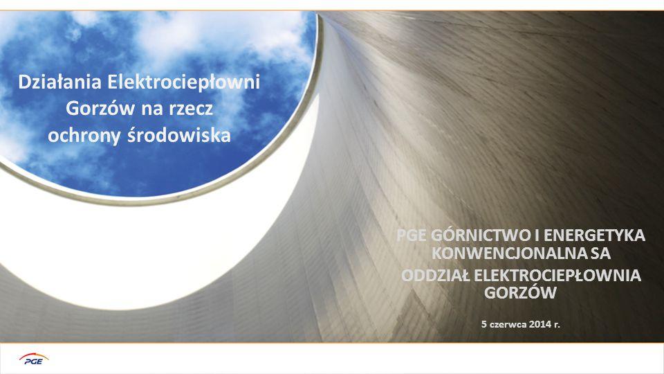 PGE GÓRNICTWO I ENERGETYKA KONWENCJONALNA SA ODDZIAŁ ELEKTROCIEPŁOWNIA GORZÓW Działania Elektrociepłowni Gorzów na rzecz ochrony środowiska 5 czerwca