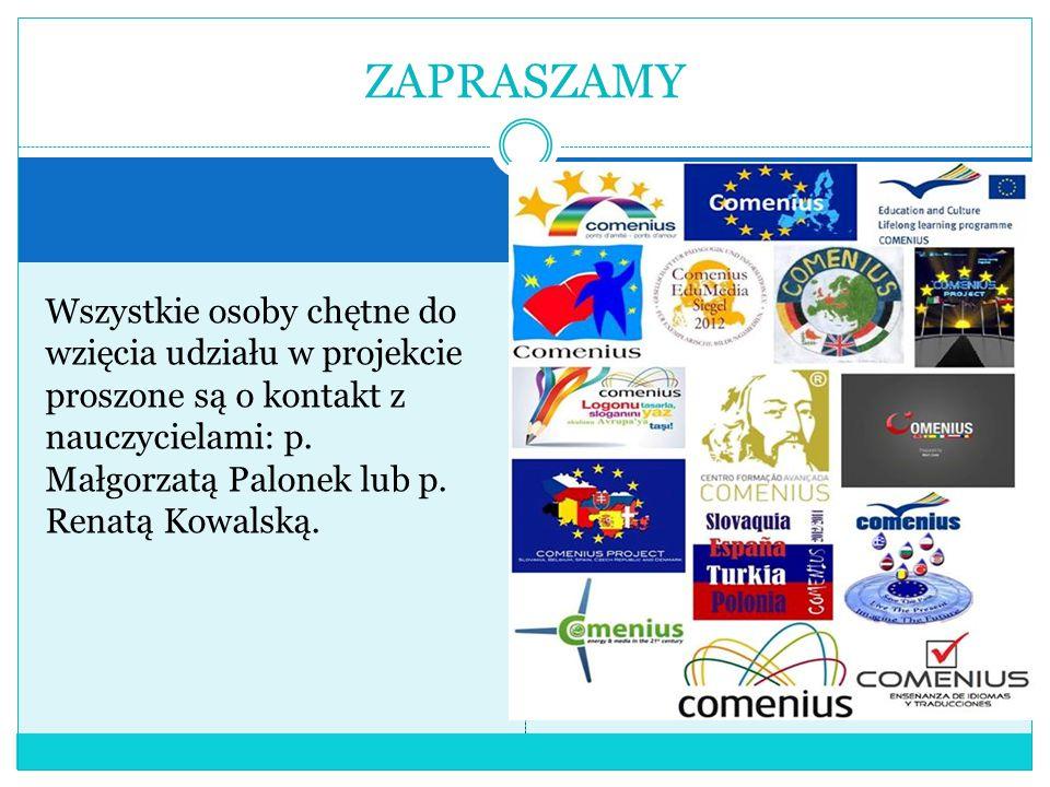 Wszystkie osoby chętne do wzięcia udziału w projekcie proszone są o kontakt z nauczycielami: p.