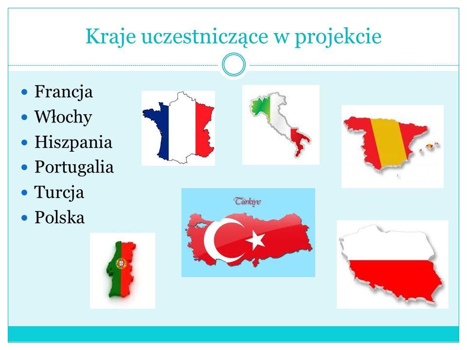 Kraje uczestniczące w projekcie Francja Włochy Hiszpania Portugalia Turcja Polska