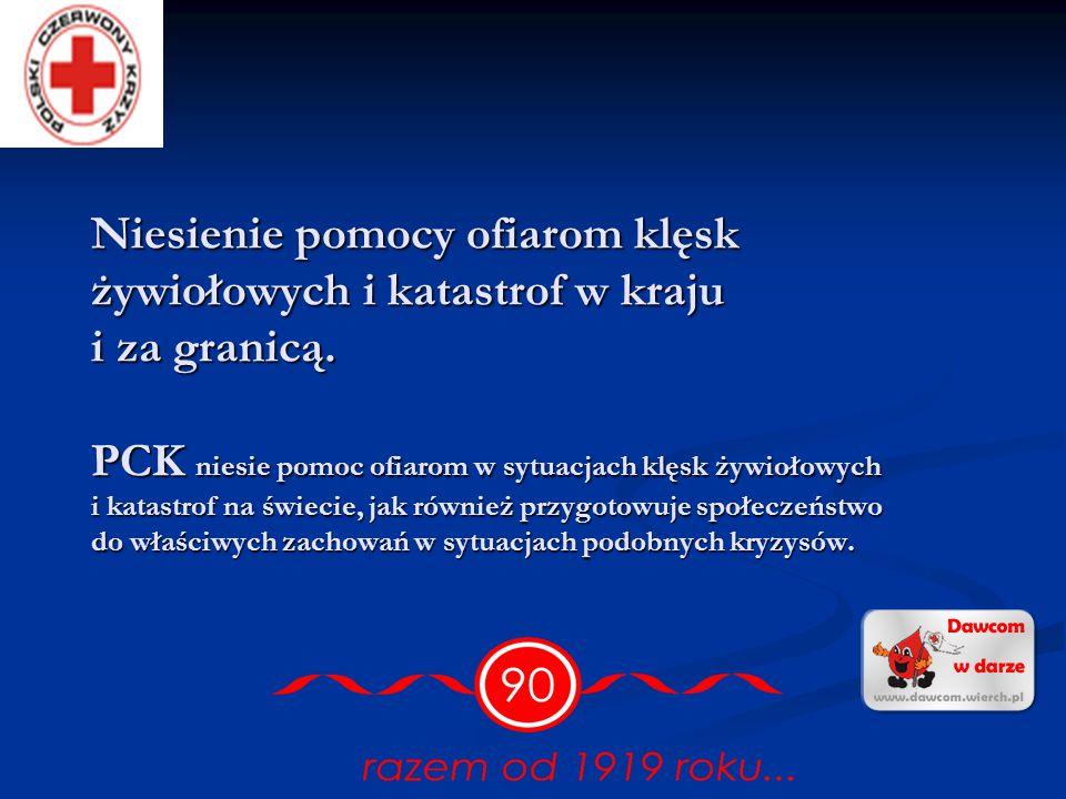 Promocja honorowego krwiodawstwa.