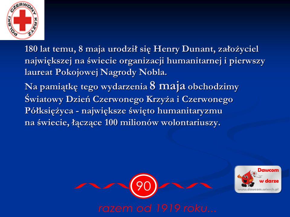 180 lat temu, 8 maja urodził się Henry Dunant, założyciel największej na świecie organizacji humanitarnej i pierwszy laureat Pokojowej Nagrody Nobla.