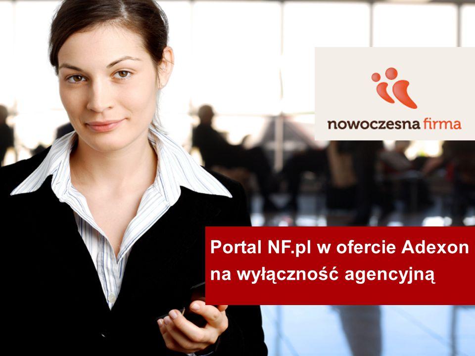 Portal NF.pl w ofercie Adexon na wyłączność agencyjną