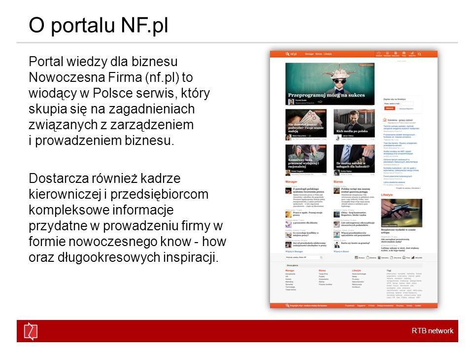 RTB network O portalu NF.pl Portal wiedzy dla biznesu Nowoczesna Firma (nf.pl) to wiodący w Polsce serwis, który skupia się na zagadnieniach związanych z zarządzeniem i prowadzeniem biznesu.