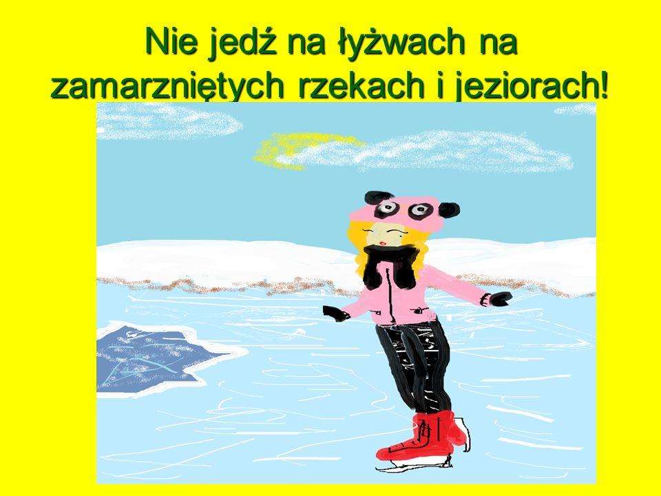 Nie jedź na łyżwach na zamarzniętych rzekach i jeziorach!
