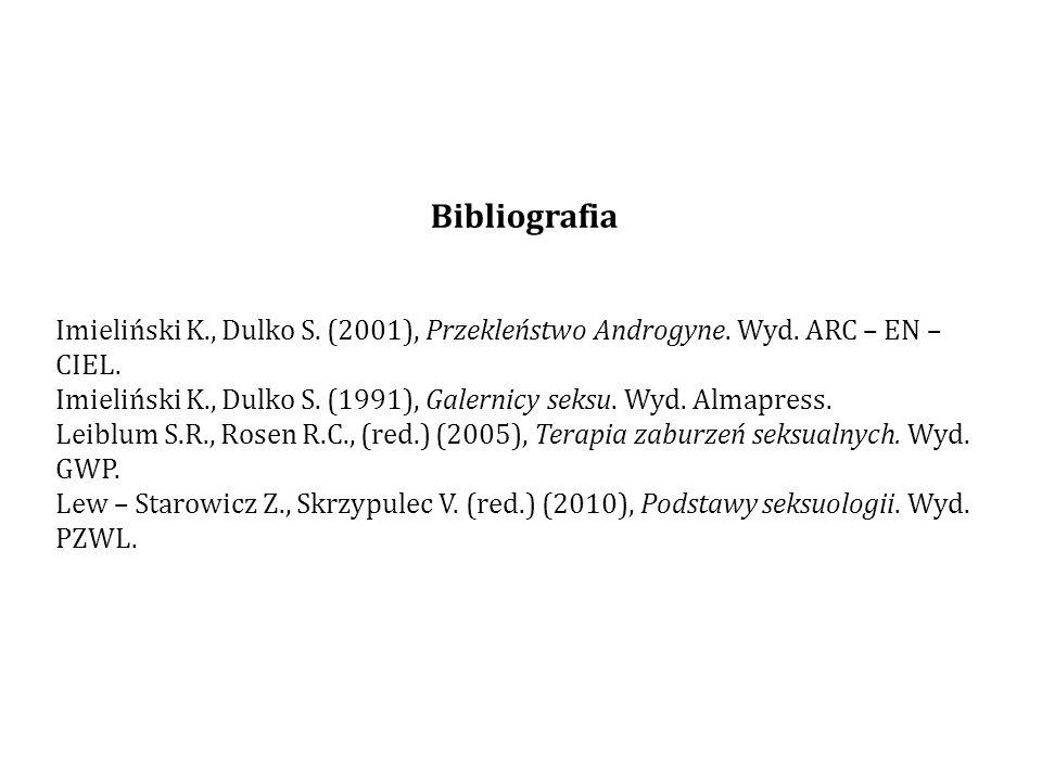 Bibliografia Imieliński K., Dulko S.(2001), Przekleństwo Androgyne.