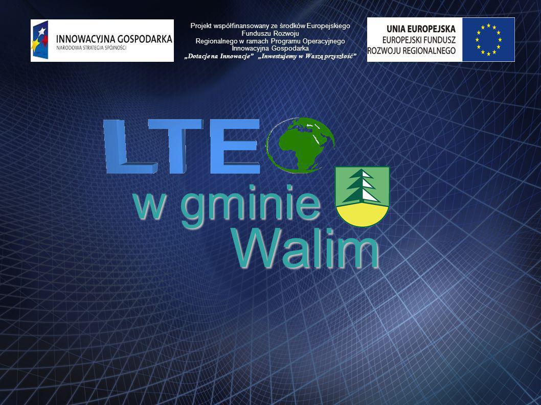wgminie w gminie Walim Projekt współfinansowany ze środków Europejskiego Funduszu Rozwoju Regionalnego w ramach Programu Operacyjnego Innowacyjna Gosp