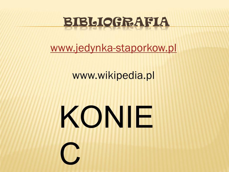 www.jedynka-staporkow.pl www.wikipedia.pl KONIE C