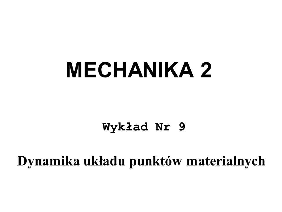 MECHANIKA 2 Wykład Nr 9 Dynamika układu punktów materialnych
