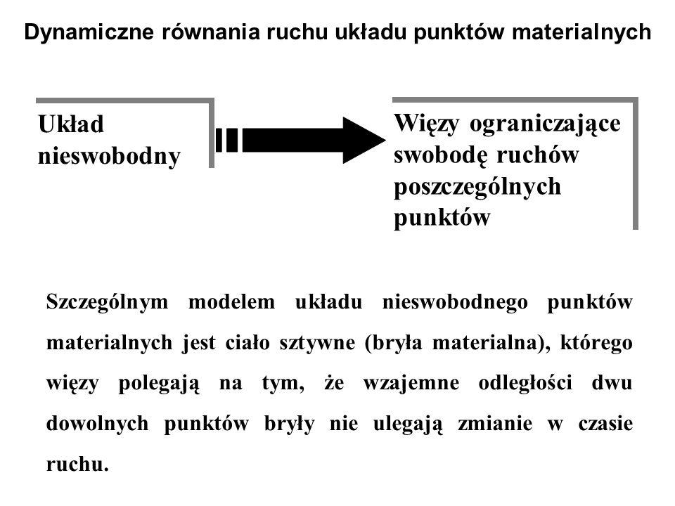 Szczególnym modelem układu nieswobodnego punktów materialnych jest ciało sztywne (bryła materialna), którego więzy polegają na tym, że wzajemne odległ