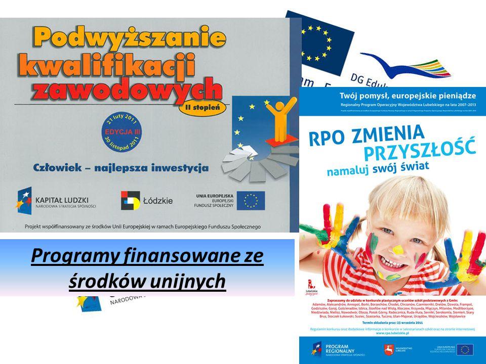 Programy finansowane ze środków unijnych