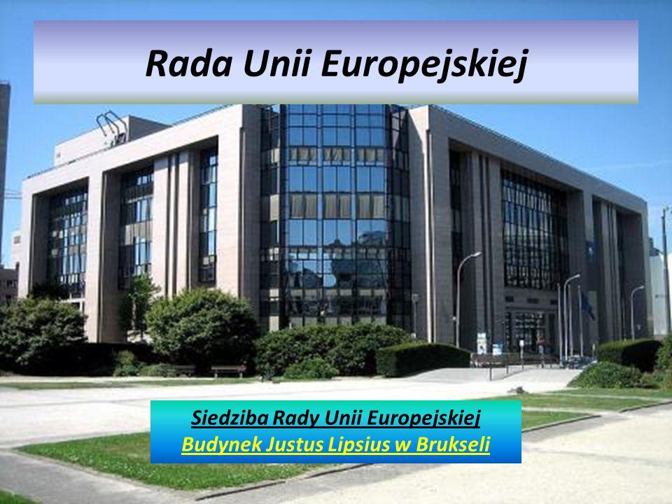 Rada Unii Europejskiej Siedziba Rady Unii Europejskiej Budynek Justus Lipsius w Brukseli
