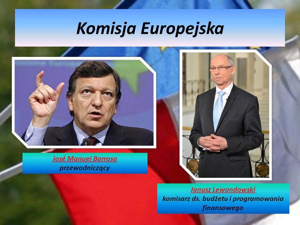 Komisja Europejska Janusz Lewandowski komisarz ds. budżetu i programowania finansowego José Manuel Barroso przewodniczący