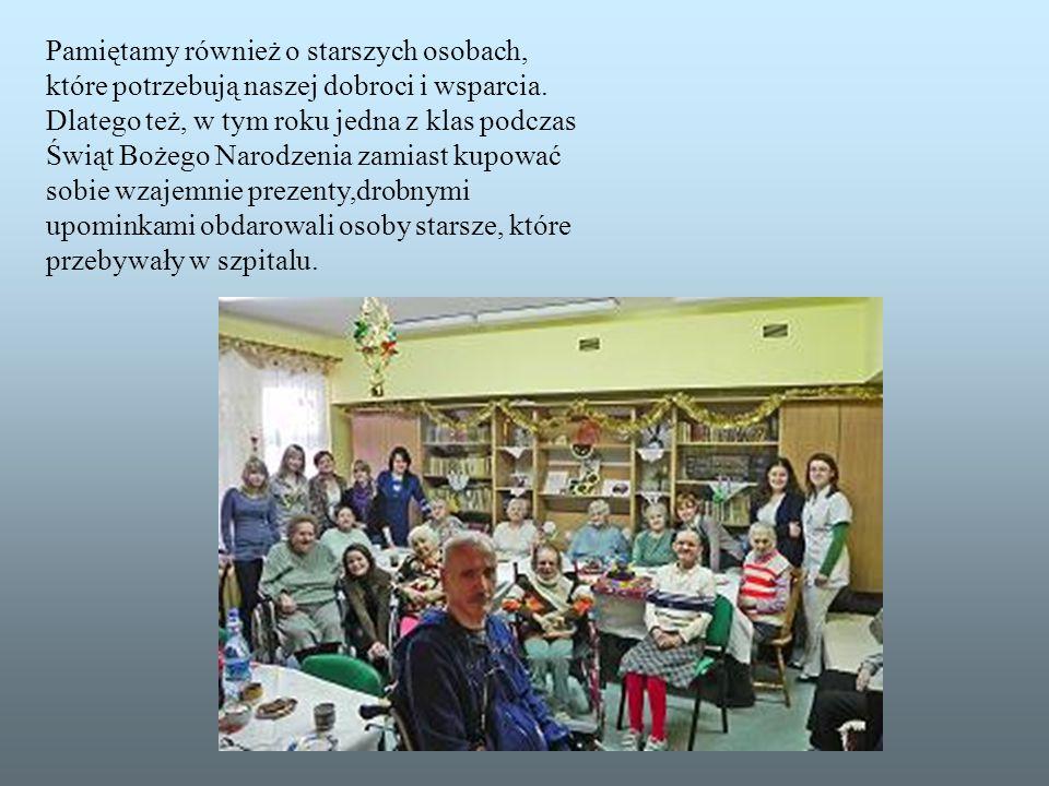 Akcja ta rozpoczęła się w naszej szkole w 2008r., za jej pomocą wspieramy i wspomagamy finansowo 7-letnią dziewczynkę z Ruandy-Divine.