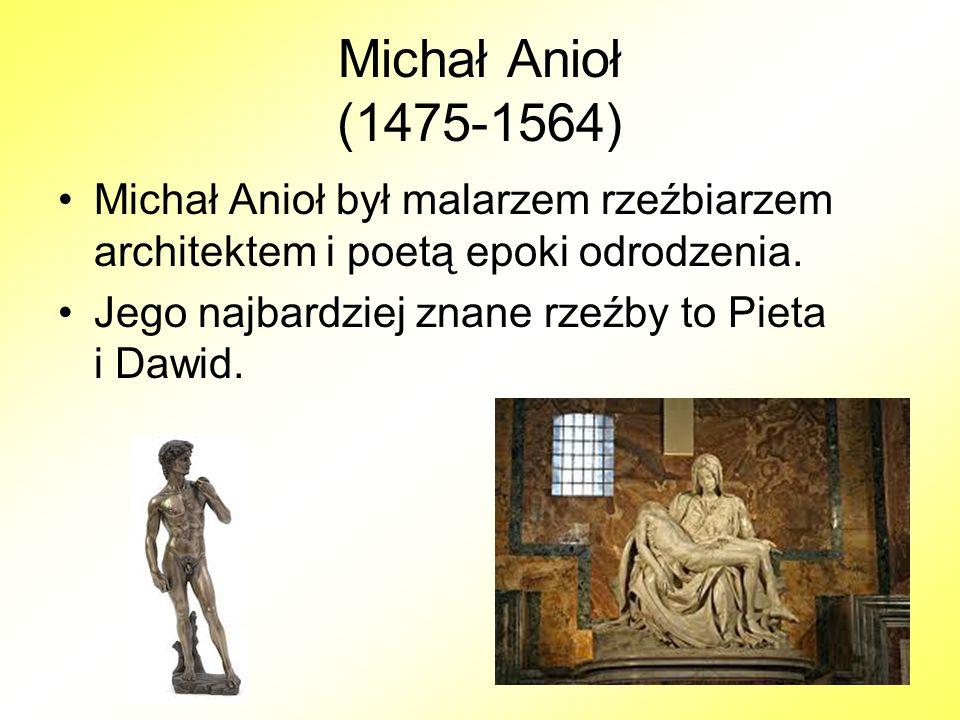 Leonardo da Vinci (1452-1519) Włoski renesansowy malarz, architekt, filozof, muzyk, pisarz, odkrywca, matematyk, mechanik, anatom, wynalazca, geolog.