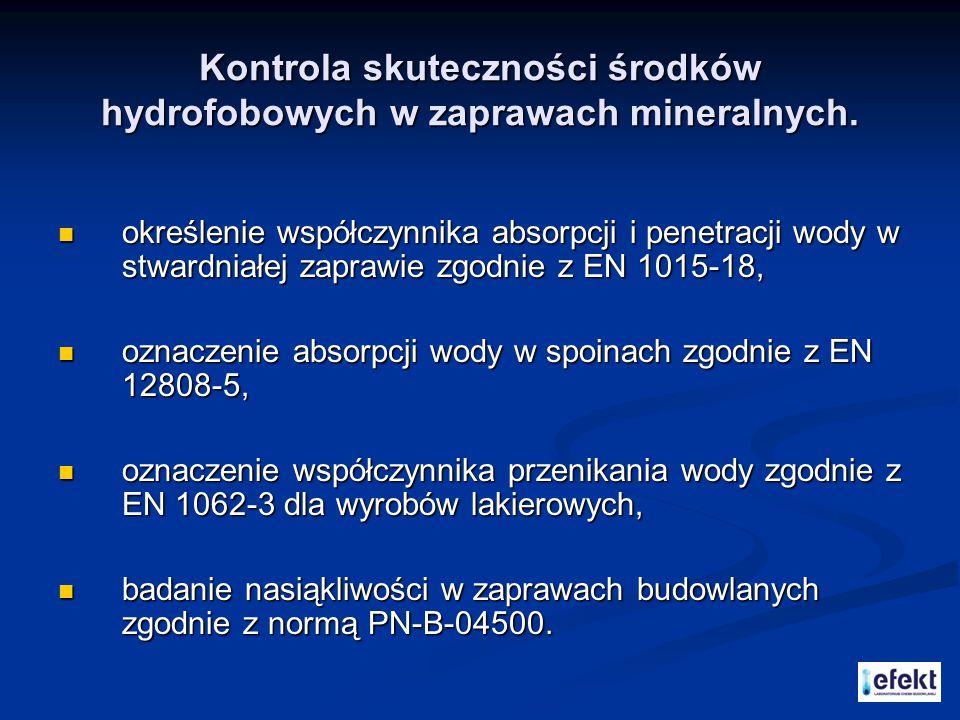 """Badanie zapraw mineralnych zgodnie z EN 1323 """" Kleje do płytek."""