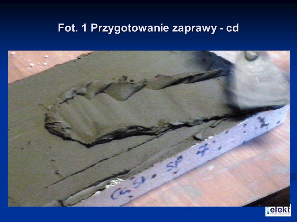 Fot. 1 Przygotowanie zaprawy - cd