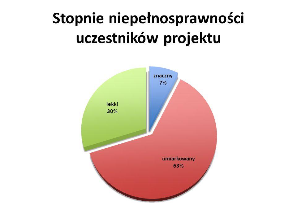 Wykształcenie uczestników projektu