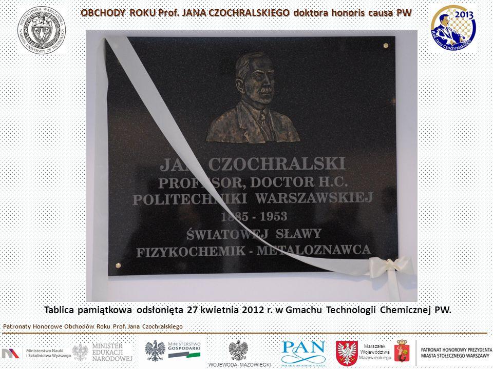 Odsłonięcie płyty pamiątkowej na grobie Prof.