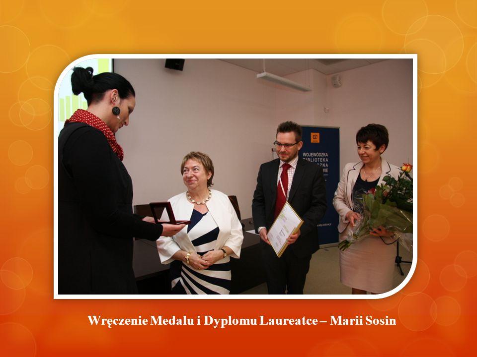Wręczenie Medalu i Dyplomu Laureatce – Marii Sosin