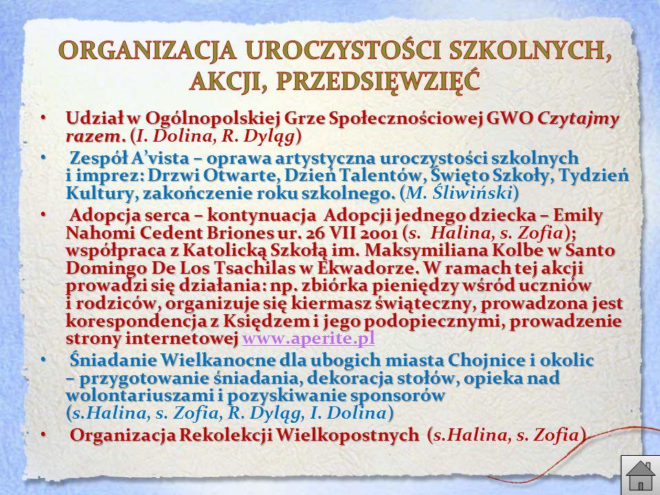 Udział w Ogólnopolskiej Grze Społecznościowej GWO Czytajmy razem.
