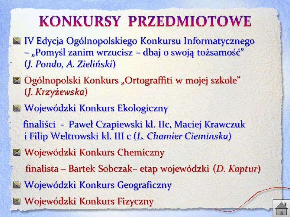 """IV Edycja Ogólnopolskiego Konkursu Informatycznego – """"Pomyśl zanim wrzucisz – dbaj o swoją tożsamość (J."""