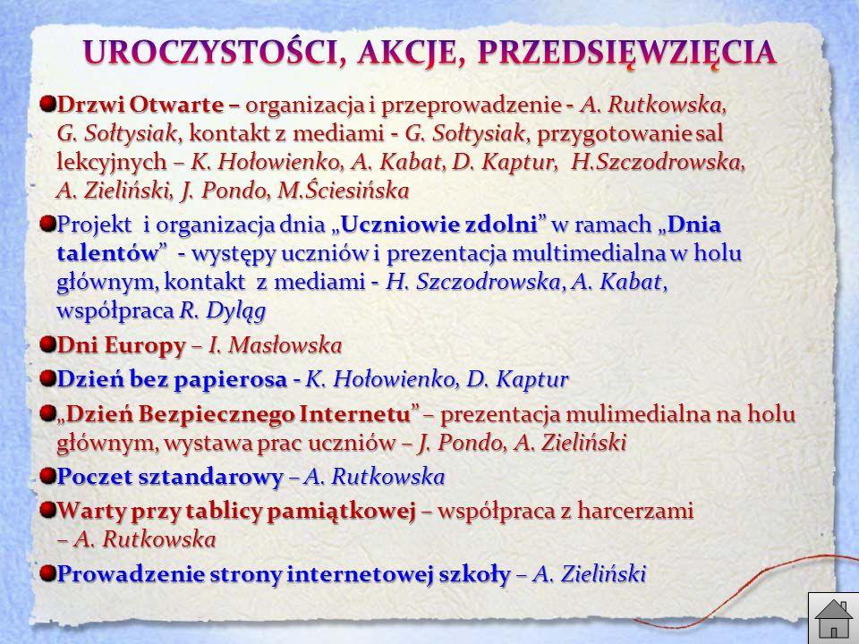 Drzwi Otwarte – organizacja i przeprowadzenie - A.