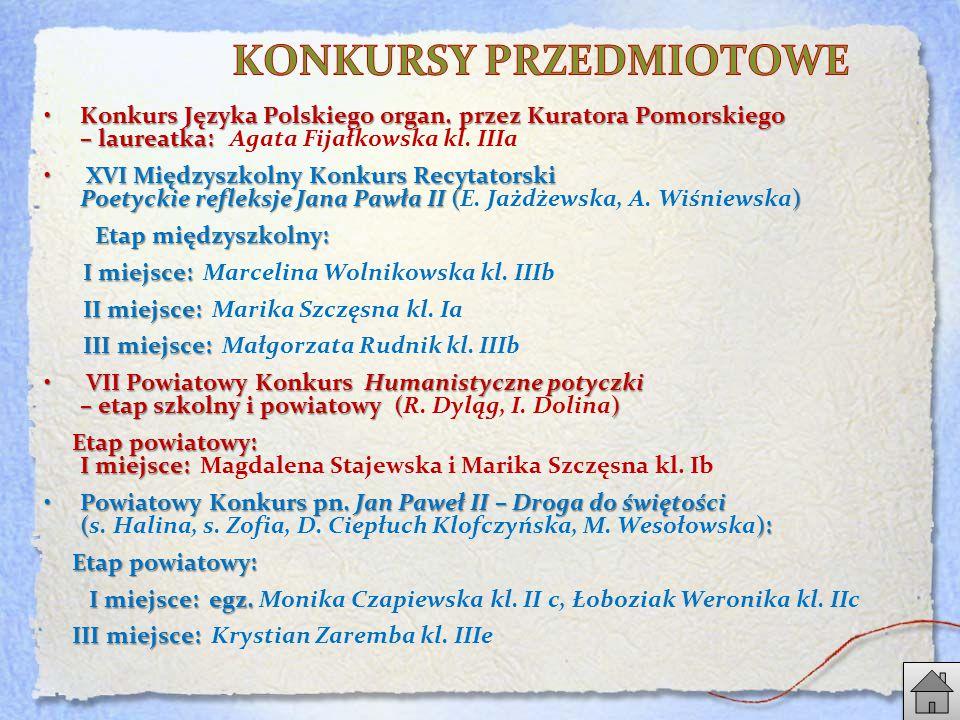 Konkurs Języka Polskiego organ.