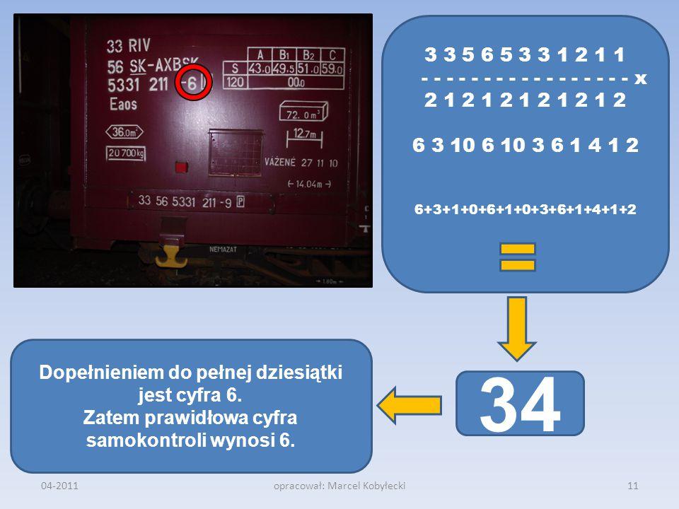 3 3 5 6 5 3 3 1 2 1 1 - - - - - - - - - - - - - - - - - x 2 1 2 1 2 1 2 1 2 1 2 6 3 10 6 10 3 6 1 4 1 2 6+3+1+0+6+1+0+3+6+1+4+1+2 34 04-201111opracowa