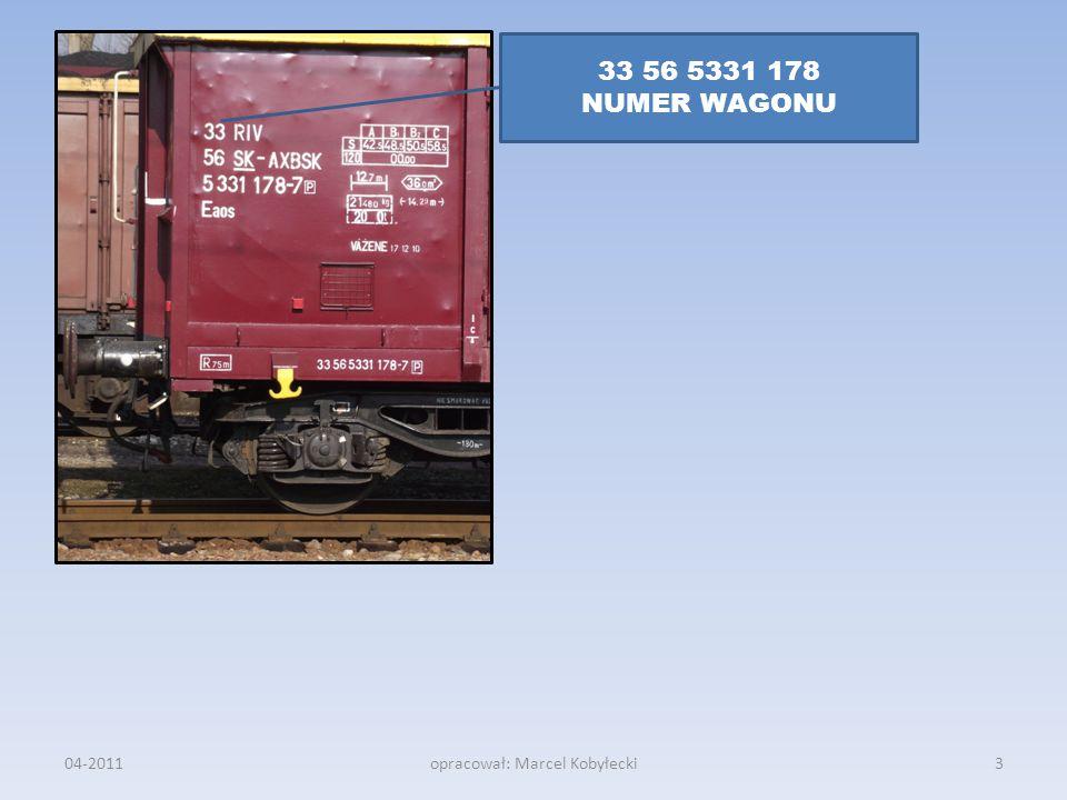 04-2011opracował: Marcel Kobyłecki 33 56 5331 178 NUMER WAGONU 3