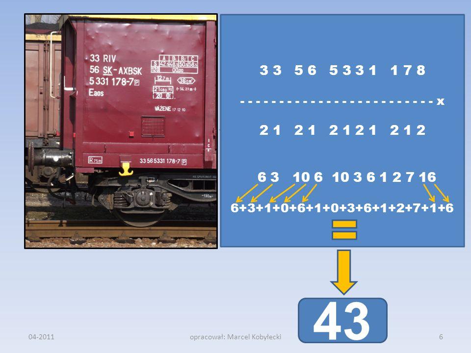 04-2011opracował: Marcel Kobyłecki 3 3 5 6 5 3 3 1 1 7 8 - - - - - - - - - - - - - - - - - - - - - - - - - x 2 1 2 1 2 1 2 1 2 1 2 6 3 10 6 10 3 6 1 2