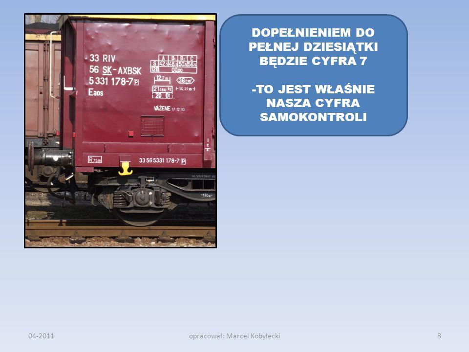 04-2011opracował: Marcel Kobyłecki DOPEŁNIENIEM DO PEŁNEJ DZIESIĄTKI BĘDZIE CYFRA 7 -TO JEST WŁAŚNIE NASZA CYFRA SAMOKONTROLI 8