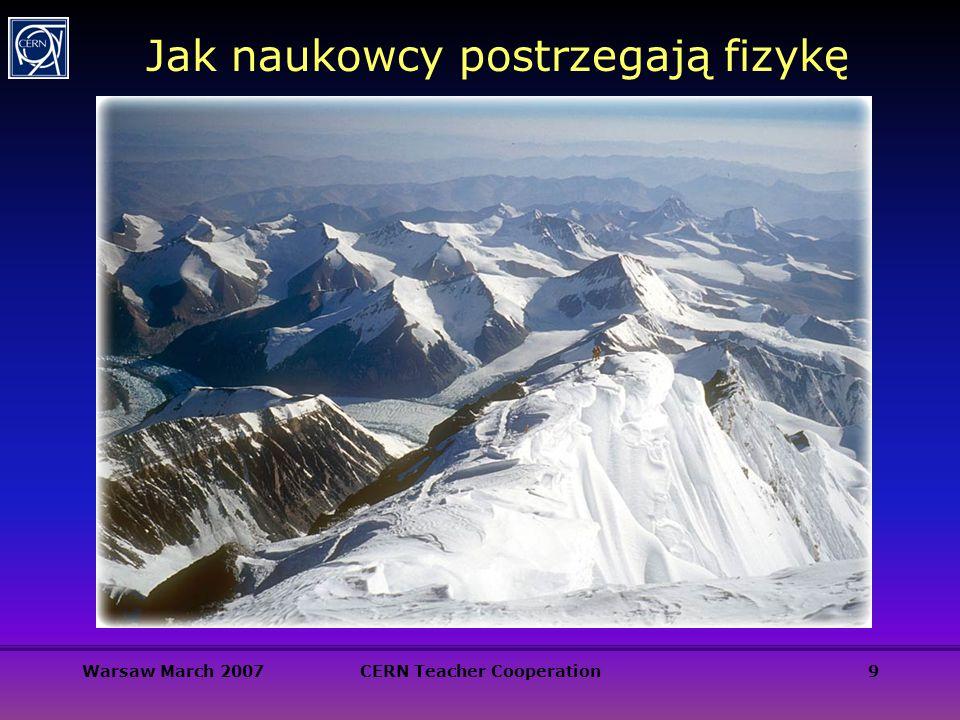 Warsaw March 2007CERN Teacher Cooperation9 Jak naukowcy postrzegają fizykę
