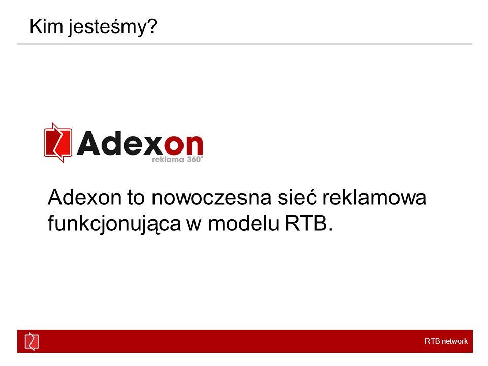 RTB network Oferta Adexon Sieć reklamowa Adexchange Oferta tradycyjnej sieci reklamowej z gwarancją terminów i emisji.